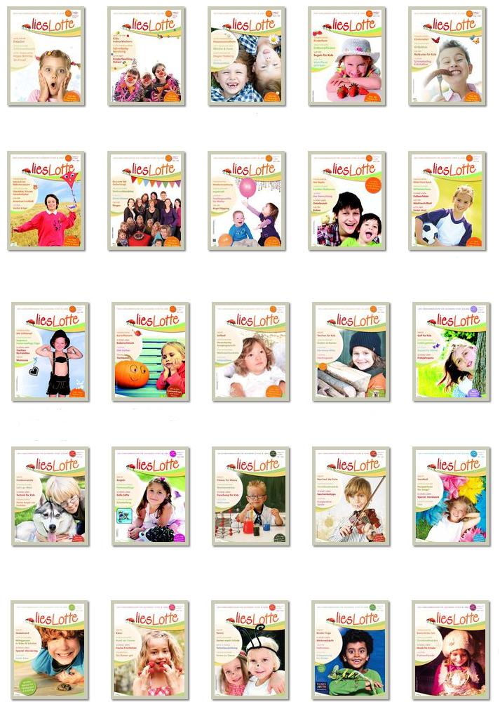 25 liesLotte Hefte auf einen Blick