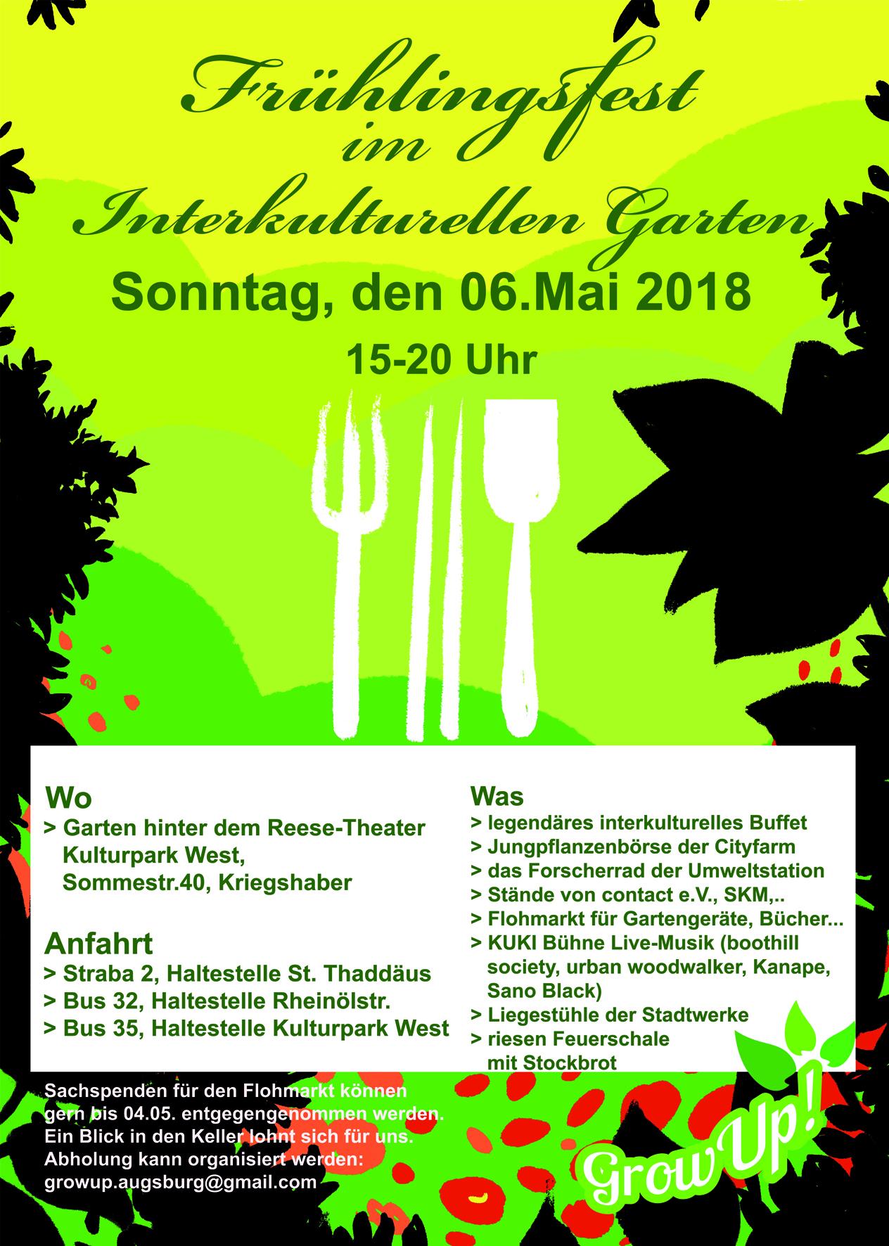 Frühlingsfest 2018 grow up Interkultureller Garten Augsburg e.V.
