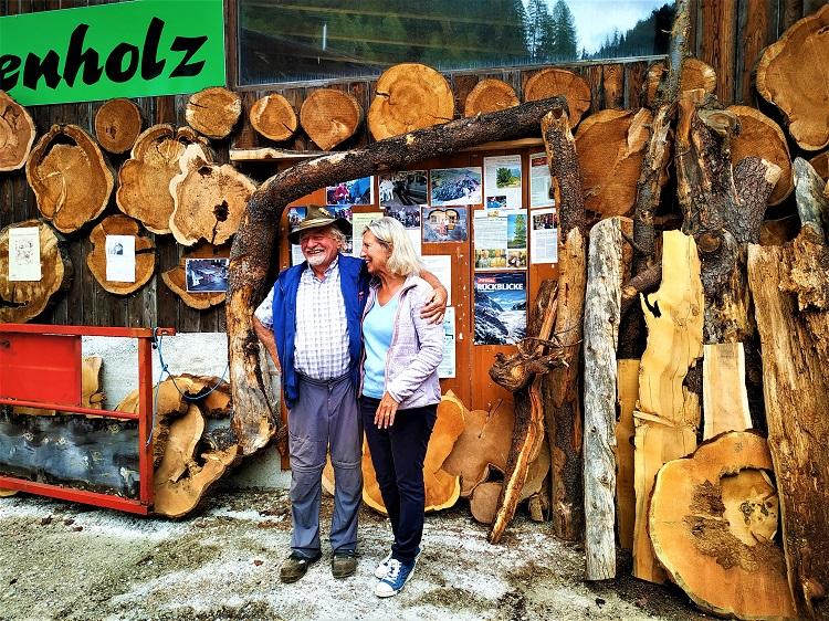 Sepp und Roswitha vom Sägewerk Reinstaller