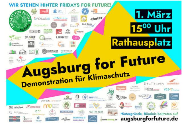 Augsburg for Future Klima Demo