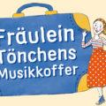 Illustration von einer Frau neben einem großen blauen Koffer