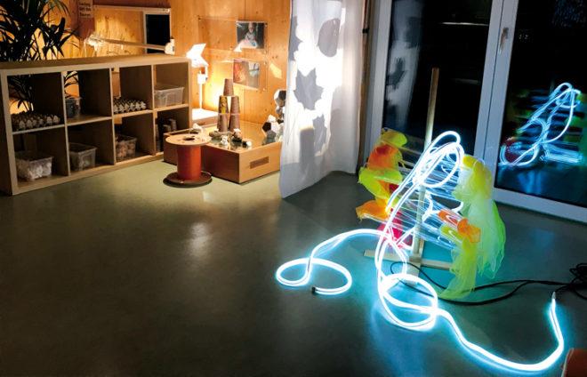 Raum mit Lichtschlauch