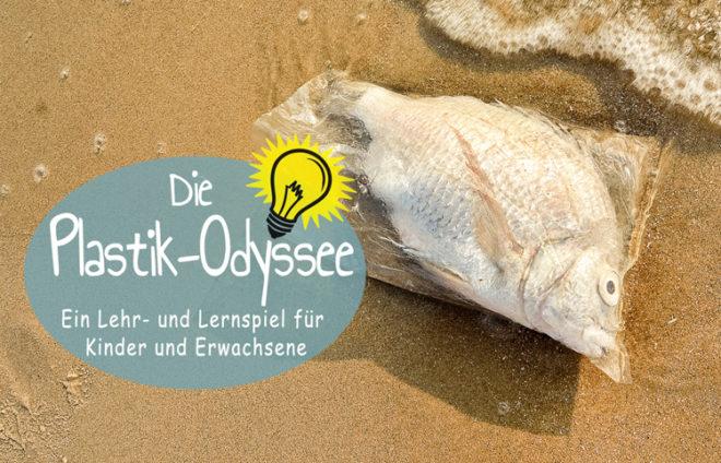 Ein Fisch in einer durchsichtigen Plastiktüte