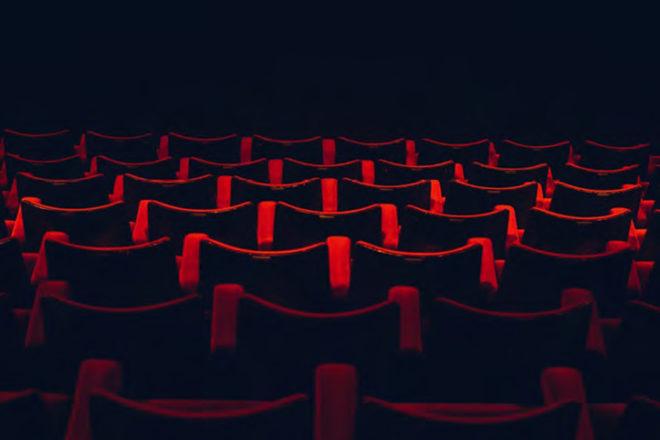 dunkler Kinosaal