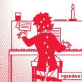Grafik vom klavierspielenden und schwitzenden Beethoven