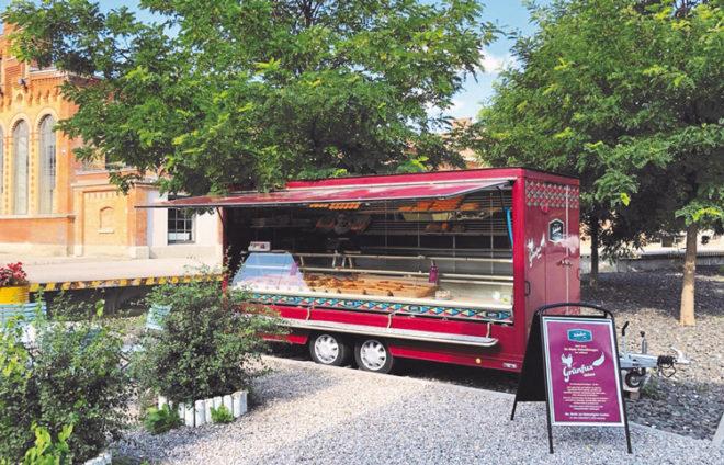 Bäckerstand in Augsburg