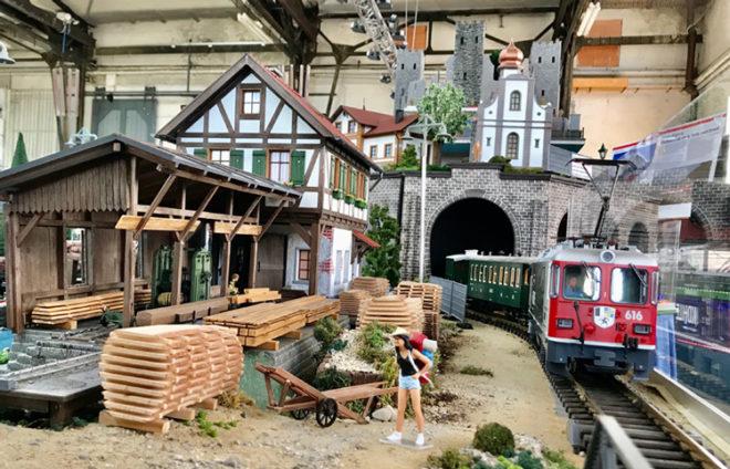 Modellbahn im Bahnpark