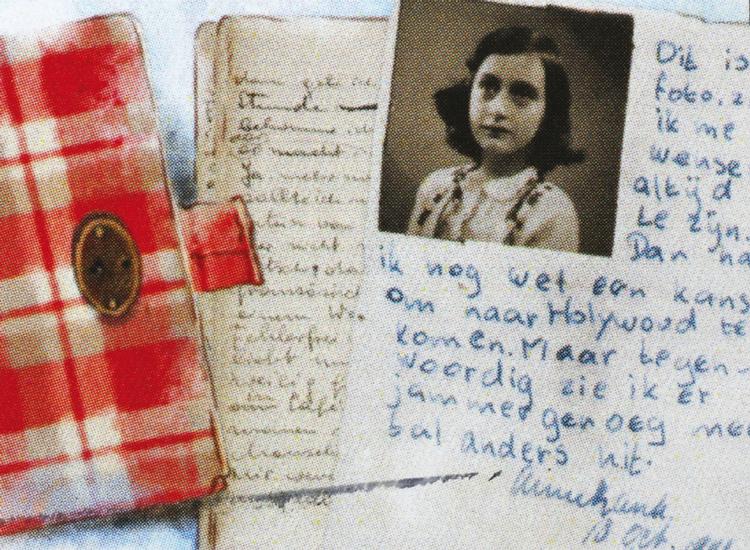 Aufgeschlagenes Tagebuch von Anne Frank