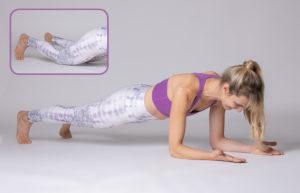 Sport-Plank am Boden