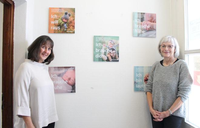 Die pädagogischen Fachkräfte Frau Hilscher und Frau Hirsekorn aus Aichach