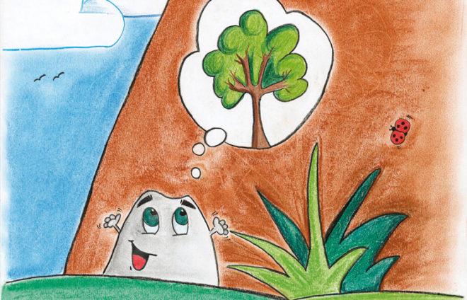 """Illustration von """"Brocki, der kleine Berg"""""""