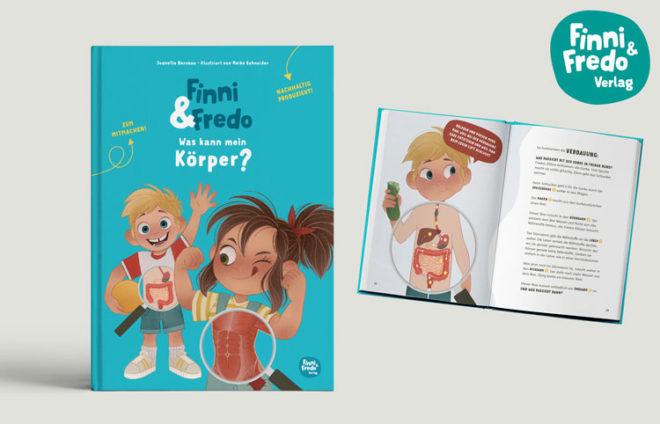 """Buchcover + Innenteil von """"Finni und Fredo"""""""