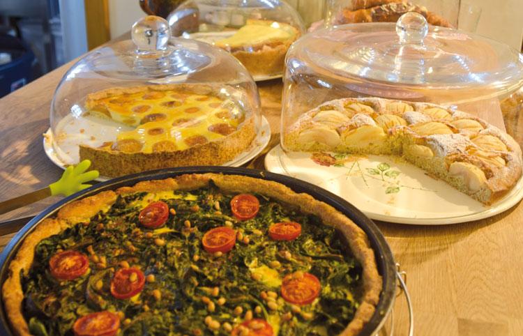 Herzhafte und süße Kuchenspeisen