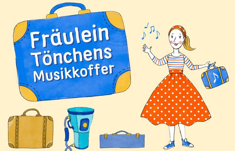Illustration von Fräulein Tönchens Musikkoffer