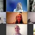 Mehrere Teilnehmerinnen in Videotelefonie