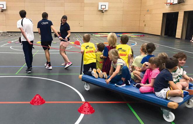 Teilnehmer der Kindersportschule beim Post SV Augsburg