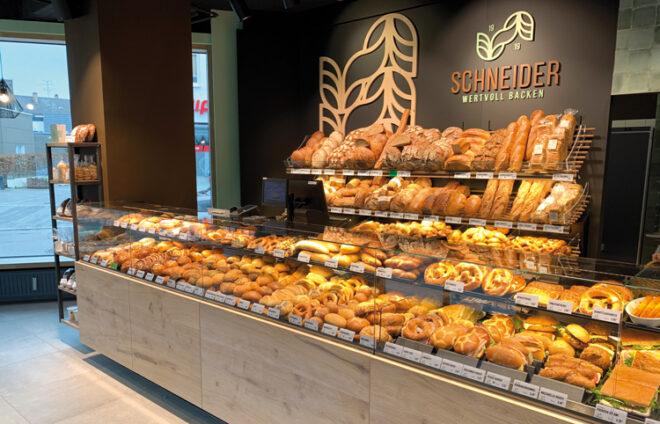 Verkaufsfläche der Bäckerei Schneider