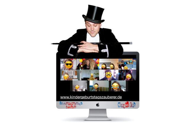 Magic Fab und seine Geburtstagsgäste im Bildschirm