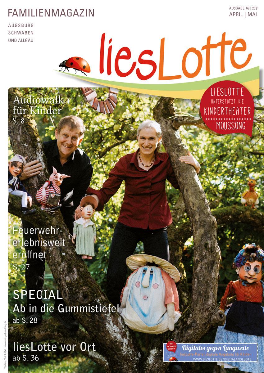 Titelbild liesLotte Ausgabe 69 - April/Mai 2021