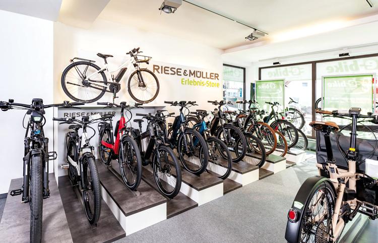 Verkaufsfläche vom e-bike-Center Augsburg
