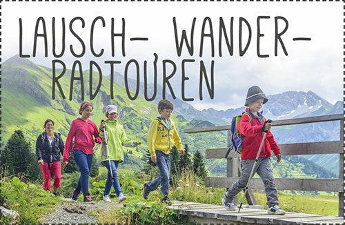Lauschtouren, Wanderrouten, Radtouren