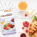 Collage Frühstücksplaner und Frühstück