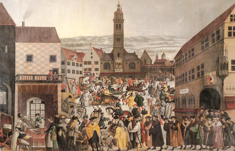 """Gemälde """"Winterbild"""" von Augsburg"""