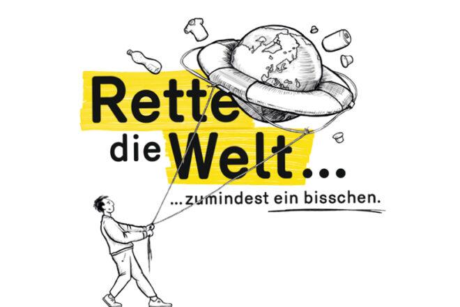 """Illustration zu Ausstellung """"Rette die Welt"""""""