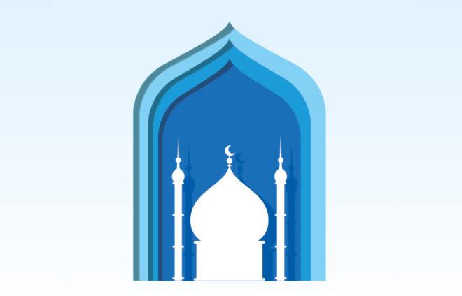 Grafik einer Moschee